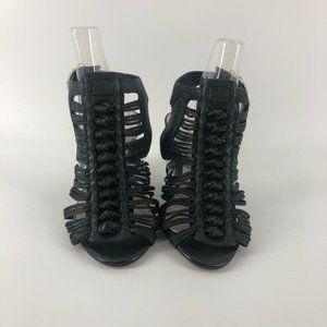 Vince Camuto Womens Edita Strappy Sandals Black 6